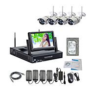 960P / 적외선 / 방수 및 NVR 7 인치 LCD / 2TB 감시 하드 디스크 키트와 함께 strongshine® 무선 IP 카메라