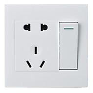 open vijf hole dubbele controle 1 op 5 hole met schakelaar socket pc panel 86 soort verborgen muur switch / de drie-pakket te koop