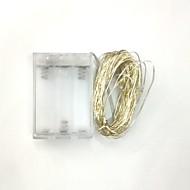 10m100led 3aa batteridrevet vandtæt dekoration førte kobbertråd lys streng til jul festival bryllupsfest