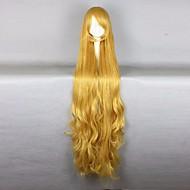 Femme Perruque Synthétique Sans bonnet Très long Ondulés Jaune Perruque de carnaval Perruque de Cosplay Perruque Halloween Perruque