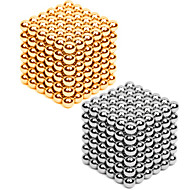Jucării Magnet 432 Bucăți 3MM Magnetic Balls 216PCS *2,Golden&Silver 2 Color Mixed in 1 Box,Diameter 3 MMAlină Stresul Kit Lucru Manual