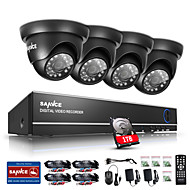 sannce® 720p открытый ИК-камера безопасности дома 1080n 4ch HD DVR система видеонаблюдения встроенный 1tb НЖМД