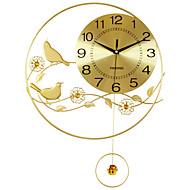 Moderne/Contemporain Niches Horloge murale,Rond Acrylique / Aluminium / Métal 55*40CM Intérieur Horloge