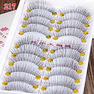 Cílios Cílios Tiras Completas de Cílios Pestana Comprimento Natural A extremidade é mais longa Estendido Pestanas Levantadas Volumizado