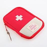 1枚 旅行かばん 旅行用ピルケース 防水 防塵 携帯式 のために 小物収納用バッグ 旅行用緊急グッズ オックスフォードクロス-レッド ブルー