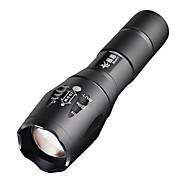 LED Lommelygter Lommelygter LED 2000 Lumen 5 Tilstand Cree XM-L T6 18650 Justerbart Fokus Camping/Vandring/Grotte Udforskning Dagligdags