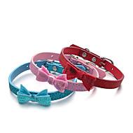 Kissat Koirat Kaulapannat Säädettävä/Sisäänvedettävä Paljetti Tukeva Punainen Sininen Pinkki PU Leather