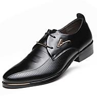 Masculino sapatos Courino Primavera Verão Outono Inverno Conforto Botas da Moda Oxfords Cadarço Para Casual Festas & Noite Preto Marron