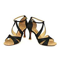 Aanpasbaar-Dames-Dance Schoenen(Zwart Blauw Geel Roze Paars Rood Wit) - metSpeciale hak- enLatin Salsa