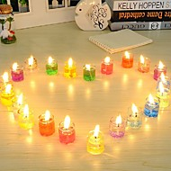 24 stuks kristallen licht geurende gel kaars rookloze jelly wax milieuvriendelijke niet giftig en onschadelijk romantische kaarsen