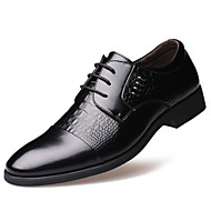 Masculino sapatos Couro Primavera Verão Outono Inverno Botas da Moda Conforto Oxfords Tachas Para Casual Festas & Noite Preto Amarelo