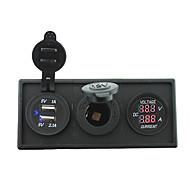 12V / 24V Strom charger3.1a USB-Anschluss und Stromampermeter-Messgerät mit Gehäusehalter Panel für rv Auto Boot LKW (mit Stromvoltmeters)