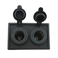 12V / 24V 2 Stück Adapter für den Zigarettenanzünder-Buchse mit Panel-Gehäuse Halter für LKW rv Auto Boot