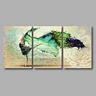 Płótno naciągnięte na blejtram Streszczenie Nowoczesny,Trzy panele Płótno Poziome Art Print wall Decor For Dekoracja domowa