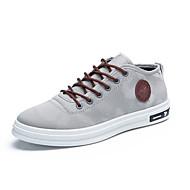 Herre sko Lerret Vår Høst Komfort Dykkesko Treningssko Kombinasjon Til Avslappet Svart Grå Rød Blå