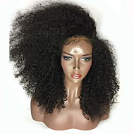Žene Sintetičke perike Lace Front Dug Kinky Svjetlosmeđ Boja gagata Crna Tamnosmeđa Mediumt Browm Prirodna linija za kosu Stražnji dio