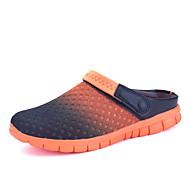 pár cipő Kényelmes-Lapos-Női cipő-Szandálok-Szabadidős Alkalmi-Tüll-Szürke Narancssárga Kék fekete Fekete-fehér Világoszöld