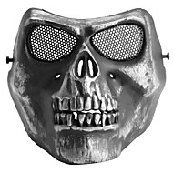 Légzés Mask Túrázás Kemping Taktikai Tartós Védő fém Fekete