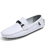 Masculino Mocassins e Slip-Ons Mocassim Sapatos de mergulho Pele Verão Outono Casual Caminhada Mocassim Sapatos de mergulho Rasteiro