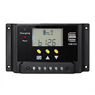 30A PWM baterie solara controler regulator de încărcare Dual USB 12v 24v lcd