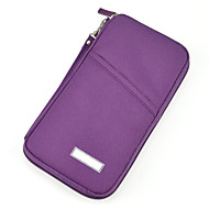 Porta Documentos Portátil Organizadores para Viagem para Portátil Organizadores para Viagem Roxo Verde Azul Rosa claro Black + Golden