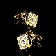 Men's Jewelry Brand Crystal Round Cufflinks Jewelry Buttons Designer Shirt Cuff link for Mens Shirt Sleeve Buttons