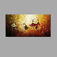 Maalattu Abstrakti Asetelma Vaakasuora,European Style Classic 1 paneeli Kanvas Hang-Painted öljymaalaus For Kodinsisustus