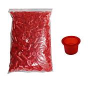 tatuagem solong copos de tinta 1000 pcs tatuagem tampas de plástico de grande porte tc101-2 cor vermelha