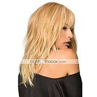 Mulher Perucas de cabelo capless do cabelo humano médio Auburn Médio Auburn / Bleach Loiro Bege Loiro // Bleach Loiro Longo Ondulado