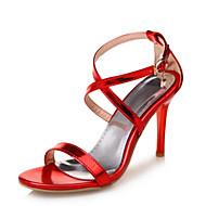Feminino Sandálias Inovador Sapatos clube Couro Envernizado Materiais Customizados Verão Casamento Social Festas & NoitePedrarias