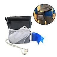 犬 餌入れ/水入れ ペット用 ボウル&摂食 防水 携帯用 グレー