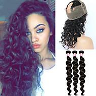 En Pack Solution Indisk hår Løse bølger 12 måneder 4 deler hår vever