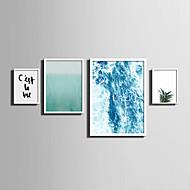 Maisema Kukkakuvio/Kasvitiede Sanat ja lainaukset Kehystetty kanvaasi Kehystetty setti Wall Art,PVC materiaali Valkoinen Ei taustalevyä