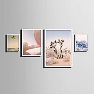 Landschap Bloemenmotief/Botanisch Woorden & Quotes Ingelijst canvas Ingelijste set Muurkunst,PVC Materiaal Wit Zonder passepartoutMet