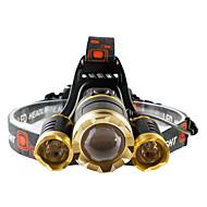 Hoofdlampen LED 4800 lumens Lumens 4.0 Modus Cree T6 Batterijen niet inbegrepen Verstelbare focus Schokbestendig Oplaadbaar