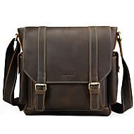 divat bőr szabadidős nagy kapacitású felső réteg marhabőr férfi táska egyetlen váll táska