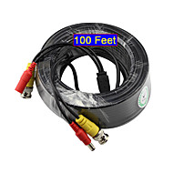 Yanse® 30 mètres Câble DC 12v et vidéo bnc de 100 pieds pour la surveillance des systèmes de sécurité