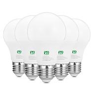 9W E26/E27 LED kulaté žárovky 18 SMD 2835 800-900 lm Teplá bílá Bílá Ozdobné AC100-240 V 5 ks