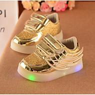 Mädchen Baby Schuhe PU Frühling Herbst Komfort Flache Schuhe Flacher Absatz Für Normal Gold Silber Rot