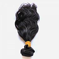 Menneskehår Vevet Peruviansk hår Naturlige bølger 18 måneder 1 hår vever
