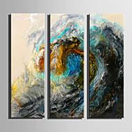 Landskab Moderne,Tre Paneler Kanvas Vertikal Kunsttryk Vægdekor For Hjem Dekoration