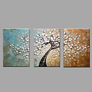 Håndmalte Landskap Horisontal,Moderne Klassisk Tre Paneler Lerret Hang malte oljemaleri For Hjem Dekor