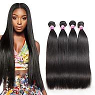 Menneskehår Vevet Brasiliansk hår Rett 1 år 4 deler hår vever