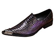 Masculino sapatos Couro Primavera Outono Conforto Inovador Sapatos formais Mocassins e Slip-Ons Caminhada Bico Metálico Para Casamento