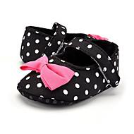 Kinder Baby Loafers & Slip-Ons Lauflern Stoff Sommer Herbst Normal Kleid Party & Festivität Lauflern Schleife Tupfen Flacher Absatz
