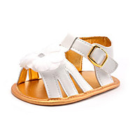 NewBorn Baby Girls' Kids' Sandals First Walkers Synthetic Summer Fall Party & Evening Dress Casual Flower Flat Heel White Flat