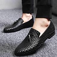Masculino sapatos Sintético Outono Inverno Mocassins e Slip-Ons Para Preto Azul