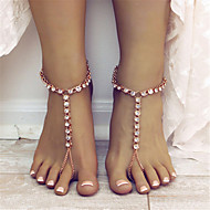 女性 アンクレット/ブレスレット ラインストーン 合金 ファッション ドロップ ジュエリー のために 日常 カジュアル 1枚