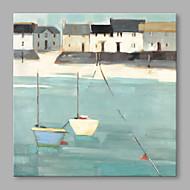 Pintados à mão Abstrato Horizontal,Abstracto 1 Painel Tela Pintura a Óleo For Decoração para casa