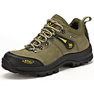 Hiking Shoes Camel Men's Athletic Shoes Comfort Cowhide Anti-skidding Comfort  Color Army Green/Brown
